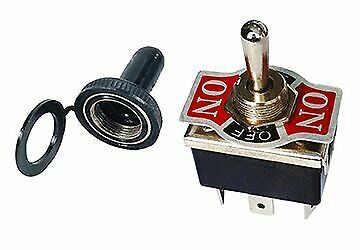 Heavy Duty Toggle Switch with Rubber Boot DPDT Center Off 20 Amp