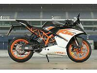 Ktm rc125 67 plate with heated grips