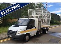 2009 Ford TRANSIT 140 T460EL RWD ELECTRIC CAGE CAGED TIPPER **RARE ELECTRIC ENGI
