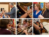 ** New community / amateur orchestra - an opportunity for lapsed players to enjoy playing again **