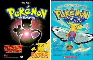 Pokemon: The First Movie and Pokemon Pop Quiz book pack