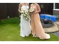 Wedding dress/veil + bridesmaid dress