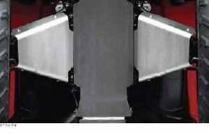SUZUKI KING QUAD 400 FRONT A-ARM SKID PLATES GUARDS 2008-2016
