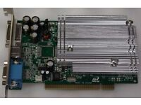 Nvidia GeForce FX5200 & ATI Radeon 2400 HD XPCI-E Express DVI VGA PCI video graphic display card £10