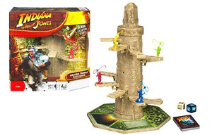 """INDIANA JONES""    Akator Temple Race Game-HASBRO"