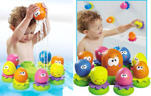 NEW in box. Tomy Octopals, colourful baby toddler bath toy.