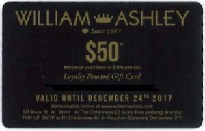 WANTED!  William Ashley Sale Gift Cards for Design Project
