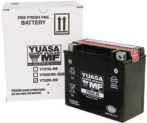 Yuasa Ytx20l-bs Battery Maintenance Free W/ Acid - Yuam420bs -