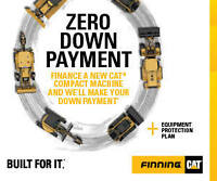 Consider It Covered! Finning CAT ZERO DOWNPAYMENT Equipment Sale