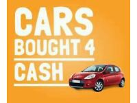 USED CARS BOUGHT FOR CASH.
