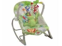 Fisher Price Rainforest Baby Infant Rocker Chair Good Condition