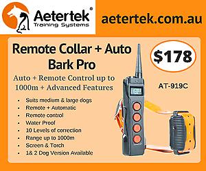 Aetertek 919C Dog Remote Training Collar AUTO BARK Collar