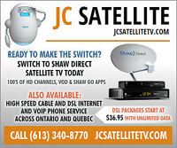 Shaw Direct Satellite TV Get 2 PVR's for free after credit!