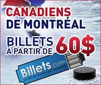 BILLETS DES CANADIENS TOUTES LES PARTIES EN VENTE AUJOURDHUI!!!!