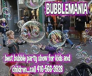 BUBBLEMANIA...BEST BUBBLE PARTY 4 KIDS!