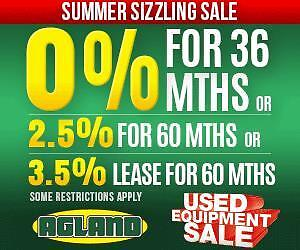 USED AG EQUIPMENT SUMMER SIZZLER SALE!! On NOW!