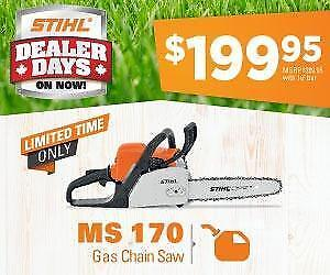 Chainsaws Starting at $199.95 and Up to 5 Years of Hassle-Free Warranty!