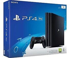 PS4 PRO 1TB black new