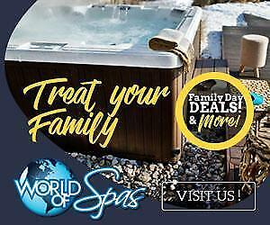 The Family Day Sale Is On NOW at World of Spas! Dont Miss Your Chance To Score A Sweet Deal!