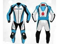 Suzuki Motorbike Leather Racing Suit, CE Approved Armour! Brand New
