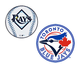 BLUE JAYS VS RAYS SAT APR 29th*8 Rows from Jays Dug out* sec 125