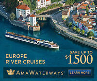 Book AMA River Cruise save up to $1,500 & get free suitcase