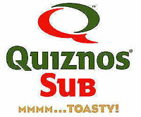 Evening and weekends Quiznos 15-30 hrs/week