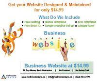 Website Hosting, Design and Support only $14.99
