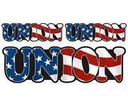Union Hard Hat Stickers