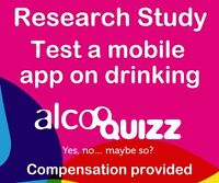 Test a mobile app on drinking