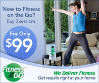 Fitness On The Go month of May special 3 sessions for $99*.