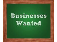 Businesses required- any location