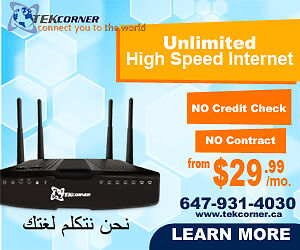 Unlimited High Speed Internet No contract Free Modem Rental