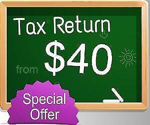From only $40 - Tax Return Service For 2017
