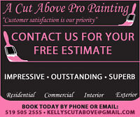 A Cut Above Pro Painting 519 505 2555