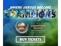 SRI LANKA V PAKISTAN CHAMPIONS TROPHY GOLD TICKETS X 3- £80 EACH BARGAIN