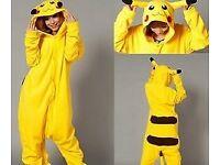 Pikachu Onesie Costume - Adult - One Size