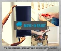 TV Television Mounting Installation & Furniture Assembly