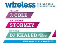 Wireless x2 tickets for Sunday