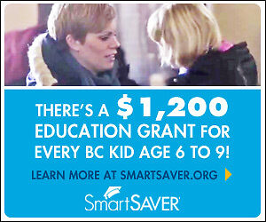 There's a $1,200 Education Grant for Every BC Kid aged 6 to 9