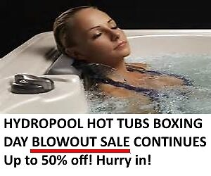 Hydropool Hot Tubs Boxing Day Blowout Sale - All week long!
