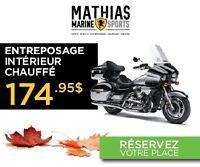 2016 Kawasaki ENTREPOSAGE HIVER / 27$/sem garantie 2 ans