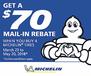 NEW Michelin Defender T+H all season touring tires ** $70 REBATE