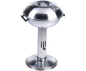 BBQ Collection Stainless Steel Column BBQ with Lid + FREE heavy duty tool set + Free 3 in 1 tool