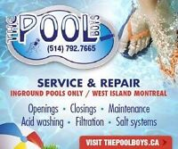 Weekly swimming pool cleaning maintenance west island