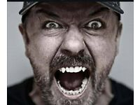 One ticket to see Ricky Gervais - Barclaycard Arena TONIGHT! Tues 27th June 2017.