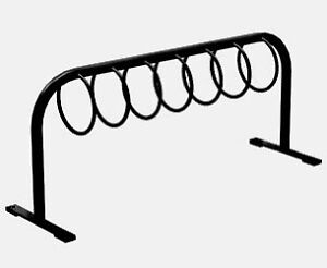 Commercial Bike Rack with 7 Rings, Steel Construction