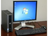 "Dell Ultra Small Form Desktop Computer PC & 17"" Dell LCD - SALE TWO LEFT"