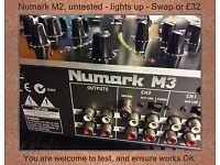 Numark M2 UNTESTED ( Lights Up )