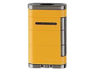 XIKAR ALLUME Medium Dual Flame Cigar Lighter in ELECTRIC YELLOW - SHIPS FREE
